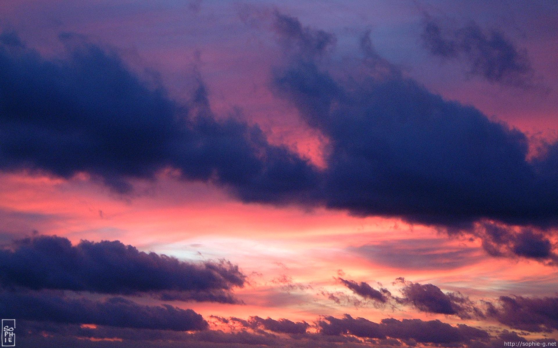 Red & violet sunset - 1920×1200 desktop wallpaper - Coucher de soleil rouge & violet - Fond d ...